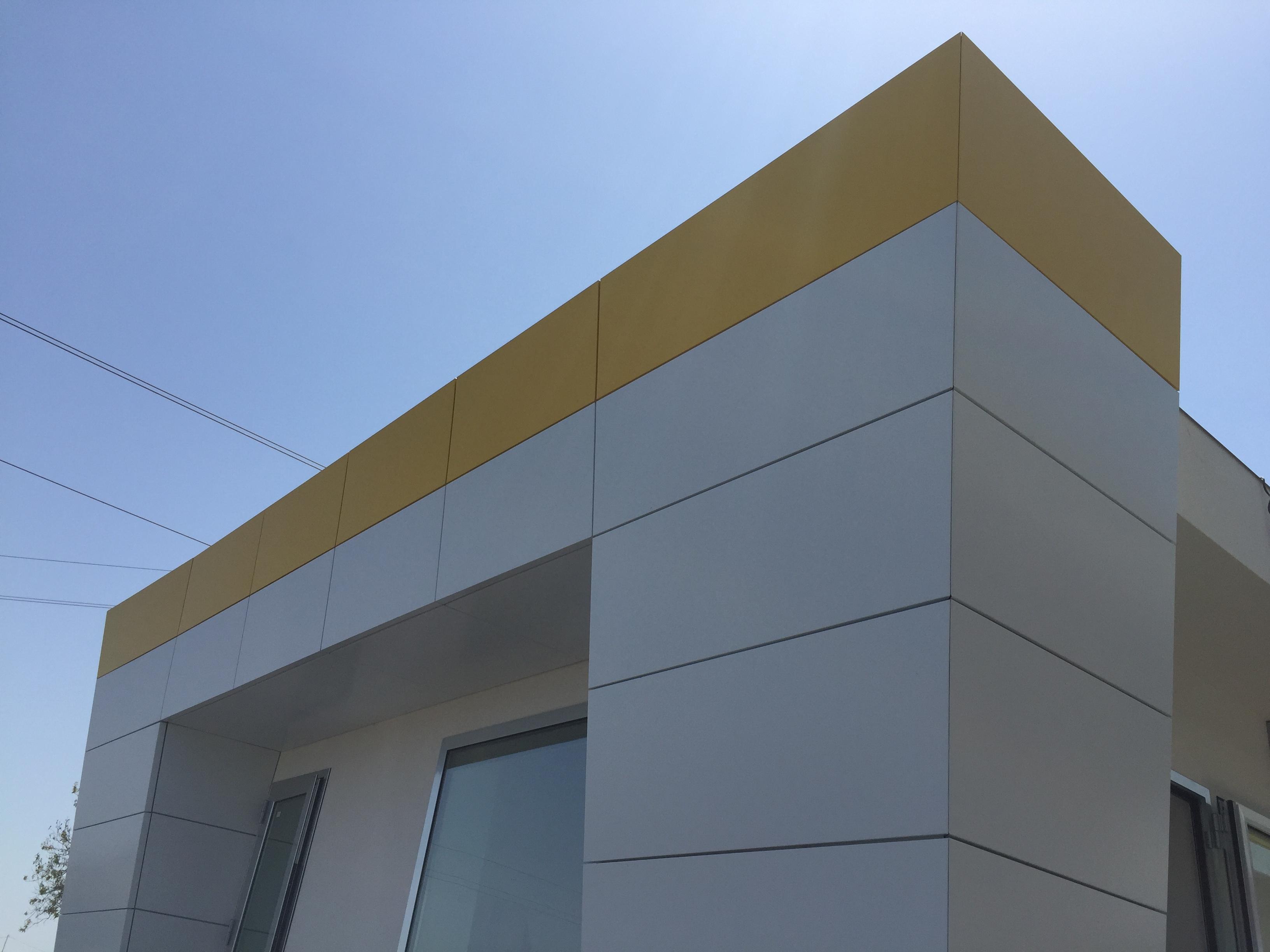 rivestimento di facciata in alluminio composito