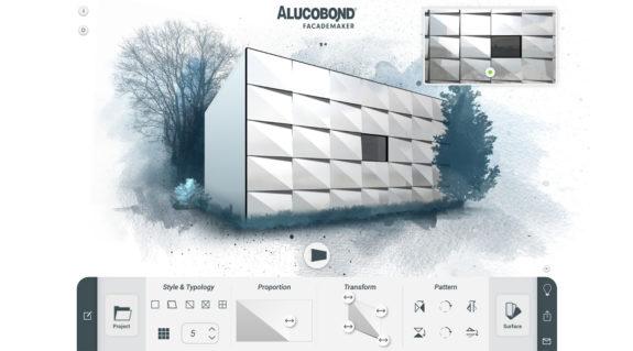 Alucobond DESIGNMAKER: Lo strumento per la creazione di progetti di superfici.