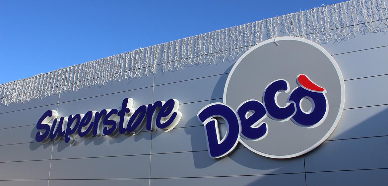 Lettere scatolate Supermercati DECO